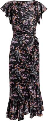 Cinq à Sept Nanon Ruffle Midi Dress