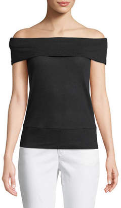Cupcakes And Cashmere Cathie Off-the-Shoulder Top