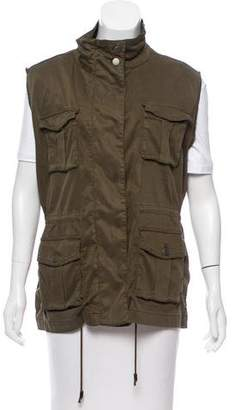 The Kooples Raw-Edge Military Vest
