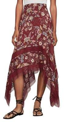 BCBGMAXAZRIA Floral Toile Handkerchief Skirt