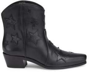 Miu Miu Leather Cowboy Boots
