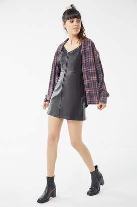 Urban Outfitters Loretta Faux Leather Zip-Front Mini Dress
