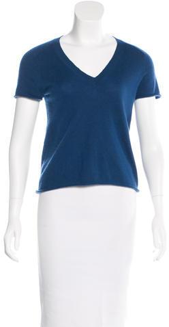 Louis VuittonLouis Vuitton Short Sleeve Cashmere Top