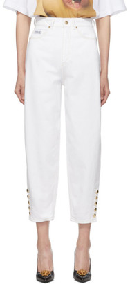 Versace White Mom Jeans