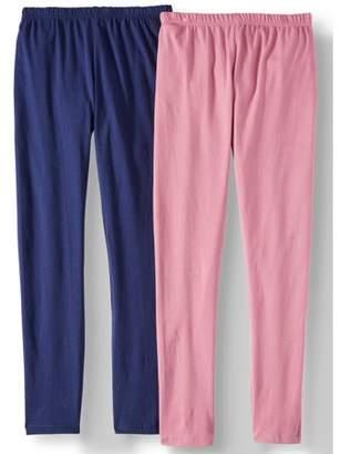 Pink Velvet Solid Leggings, 2-Pack (Little Girls & Big Girls)