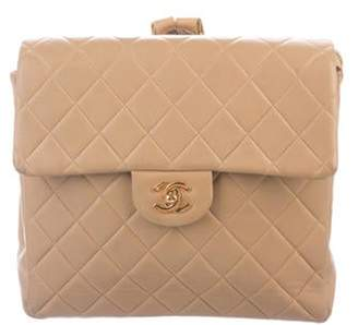 Chanel Quilted CC Backpack Tan Quilted CC Backpack