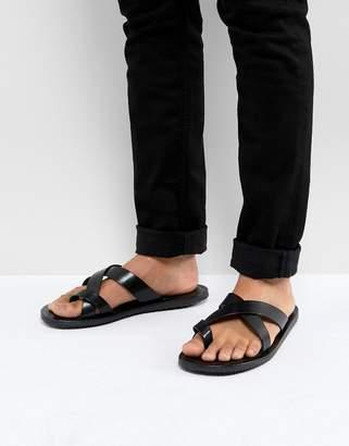 392924812edd Mens Toe Loop Leather Sandals - ShopStyle UK