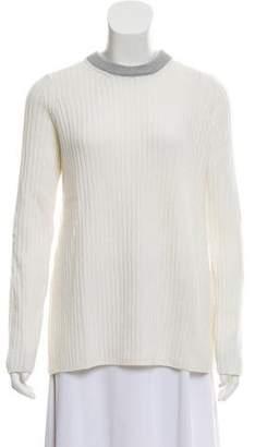 Rag & Bone Wool Rib-Knit Cutout Sweater