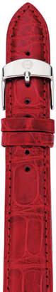 Michele 16mm Gator Strap, Red