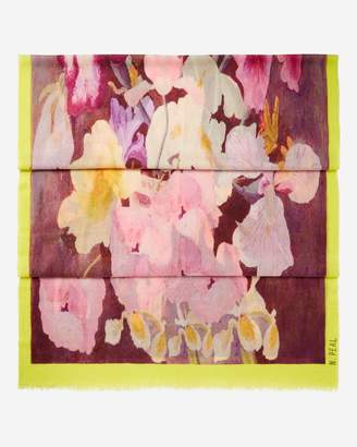 N.Peal Floral Printed Pashmina Cashmere Shawl