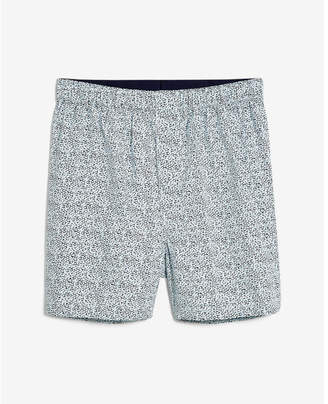 Express dot print covered waistband woven boxers