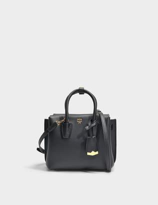 MCM Milla Mini Tote Park Avenue Bag in Black Park Avenue Leather
