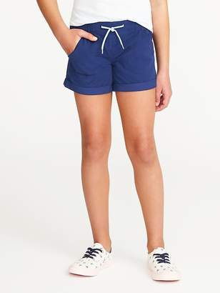 Old Navy Cuffed Pull-On Poplin Shorts for Girls