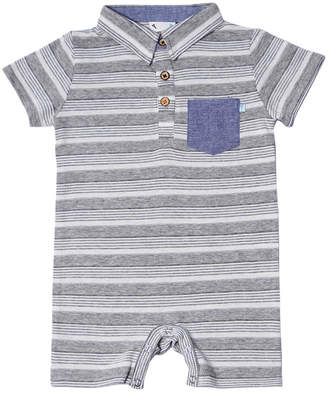 884bda10e Hudson FORE!! AXEL   Fore Axel   Heather Textured Jersey Stripe Romper