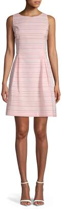Tommy Hilfiger Sleeveless Stripe Fit-And-Flare Dress