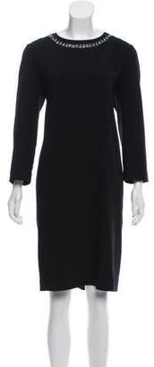 DKNY Long Sleeve Midi Dress