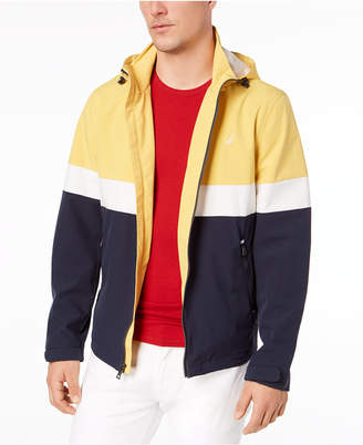 Nautica Men Big & Tall Colorblocked Hooded Jacket