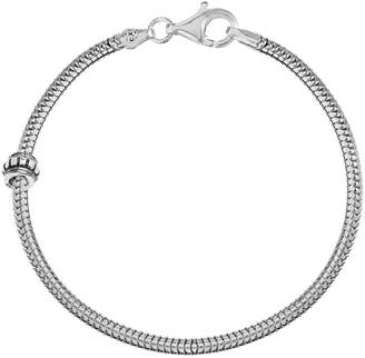 Individuality Beads Sterling Silver Snake Chain Bracelet & Stopper Bead Set - 8 1/2-in.