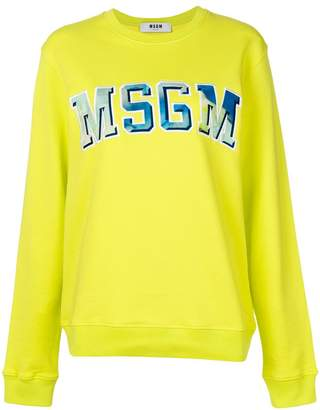 MSGM embroidered logo sweatshirt
