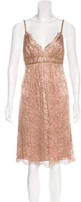 ABS by Allen Schwartz Lace Metallic Dress