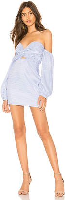 by the way. Flynn Ruched Sleeve Strapless Dress