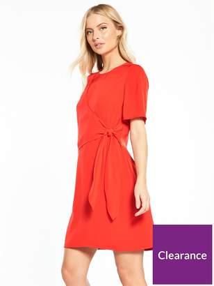 Warehouse Flippy Tie Front Dress