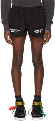 Off-White Black Off Running Shorts