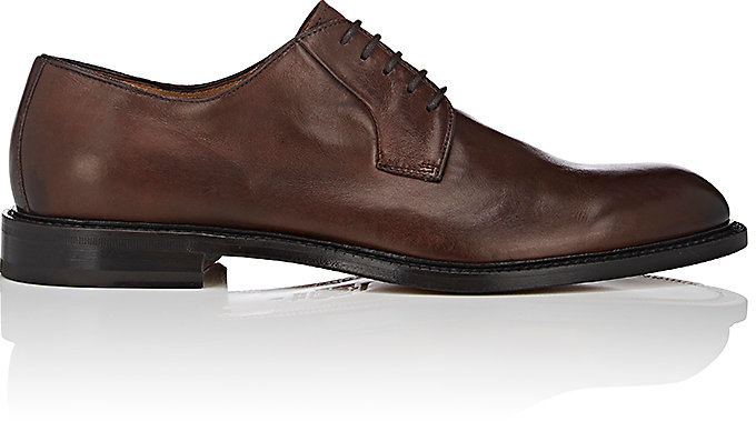Barneys New York Barneys New York Men's Washed Leather Bluchers