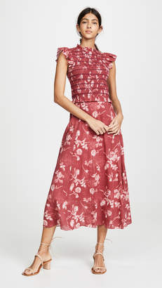 Sea Monet Smocked Midi Dress