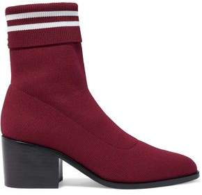 Opening Ceremony Court Striped Stretch-Knit Sock Boots