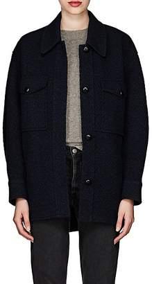 Etoile Isabel Marant Women's Garvey Wool-Blend Shirt Jacket - Dk. Blue