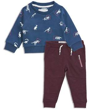 Sovereign Code Boys' Dino-Print Sweatshirt & Moto Jogger Pants Set - Baby
