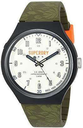 Superdry 'Urban XL Tropical Camo' Quartz Plastic and Silicone Casual Watch (Model: SYG225N)