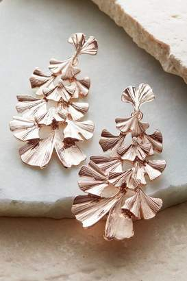 Soft Surroundings Tiered Leaf Earrings