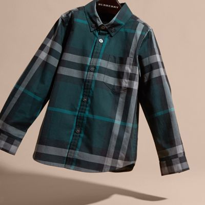 Burberry Check Cotton Button-down Shirt 10