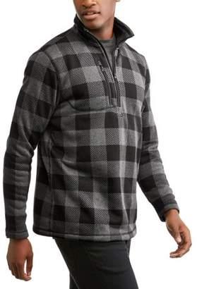 Buffalo David Bitton Climate Concept Men's Plaid Quarter Zip Fleece Sweater