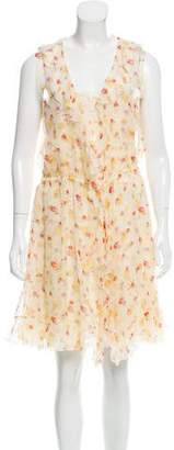 Valentino Silk Floral Printed Dress Set