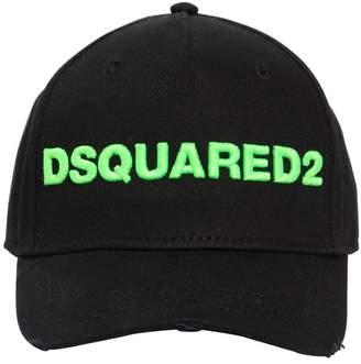 DSQUARED2 Logo Cotton Canvas Baseball Hat