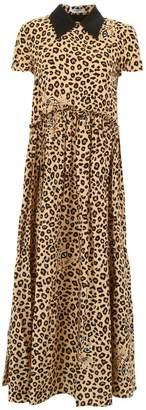 Leopard-printed Finer Dress