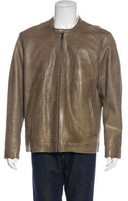 Vince Leather Zip-Up Jacket