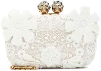 Alexander McQueen King and Queen lace clutch