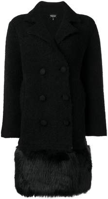 Emporio Armani short double-breasted coat