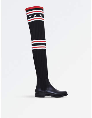 Givenchy Storm rubber and cotton rainboots