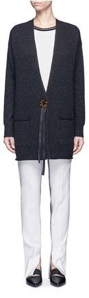 Helmut Lang Button ribbon wool-cashmere cardigan