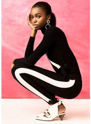 River Island Womens Black RI Studio jersey stirrup leggings