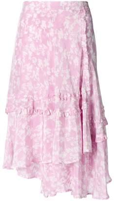 Preen Line ruffled floral skirt