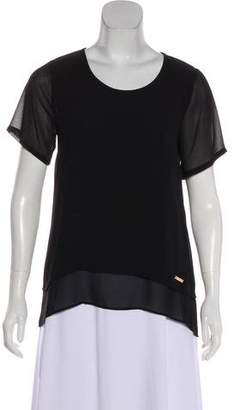 MICHAEL Michael Kors Short Sleeve Tiered Top w/ Tags