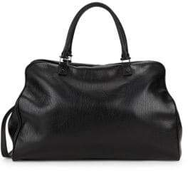 Valentino Convertible Leather Top Handle Bag