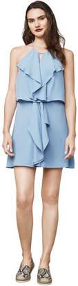 BCBGMAXAZRIA Caylan Ruffled Halter Dress