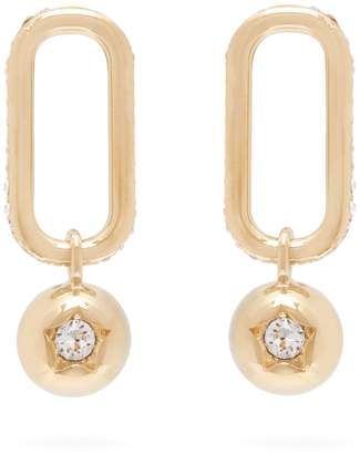 Burberry Chain-link and sphere drop earrings